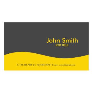 Modern Plain Simple Hi Tech Yellow Pack Of Standard Business Cards