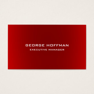 Modern Plain Simple Red Professional Business Card