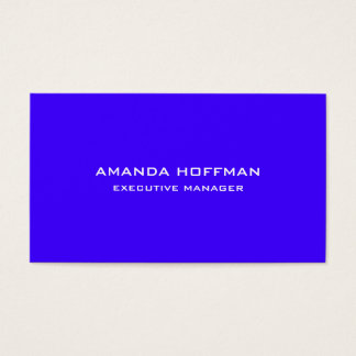 Modern Plain Simple Ultramarine Blue Professional Business Card