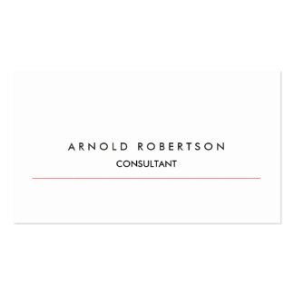 Modern Plain White Professional Business Card