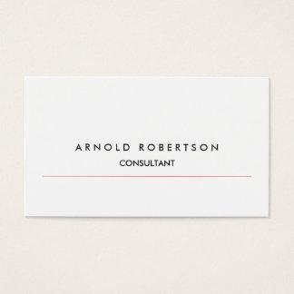 Modern Plain White Professional Business Card