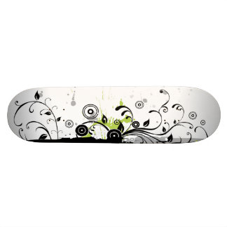 Modern Plant Ornament Skateboard