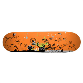 Modern Plant Ornament Skateboard Deck