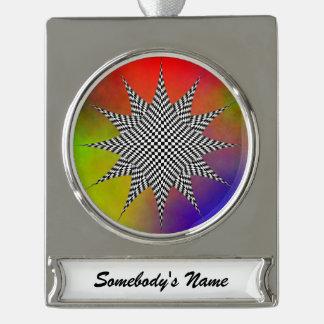 Modern Plasma Silver Plated Banner Ornament