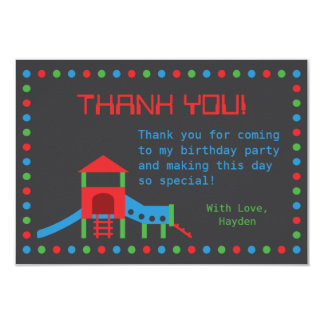 Modern Playground Kids Thank You Note Card