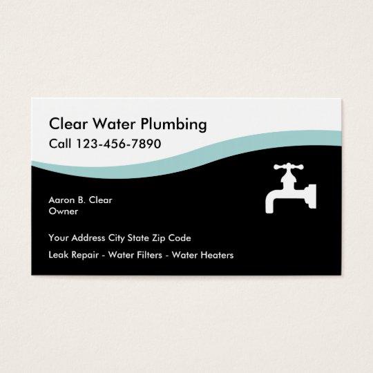 Modern plumbing business cards zazzle modern plumbing business cards colourmoves