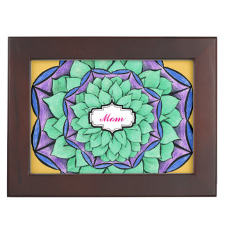 MODERN POINSETTIA in BLUE Memory Boxes