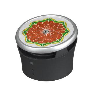 MODERN POINSETTIA in ORANGE Bluetooth Speaker