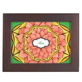 MODERN POINSETTIA in PEACH Memory Box