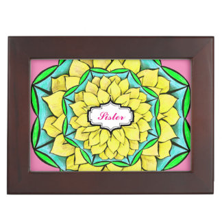 MODERN POINSETTIA in YELLOW Keepsake Box