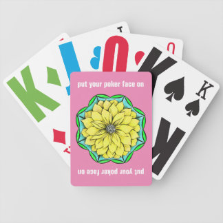 MODERN POINSETTIA in YELLOW Bicycle Playing Cards