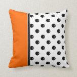 Modern Polka Dot Throw Pillows