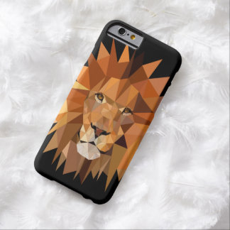 Modern Polygon Lion Custom Barely There iPhone 6 Case