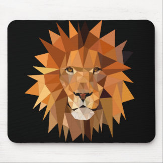 Modern Polygon Lion Custom Mouse Pad