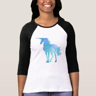 Modern Polygon Unicorn Design T-Shirt