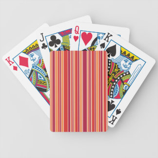 Modern Pomegranate Stripes Bicycle Playing Cards