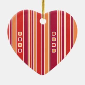 Modern Pomegranate Stripes & Boxes Ceramic Ornament