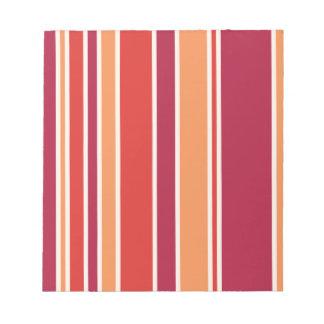 Modern Pomegranate Stripes Notepad