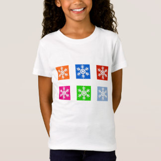 Modern Pop Art Color Snowflake Holiday T-Shirt