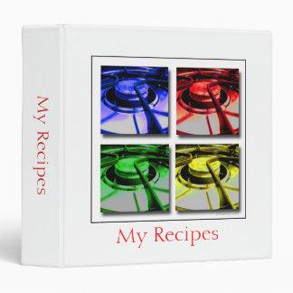 Modern Pop Art Recipe Binder