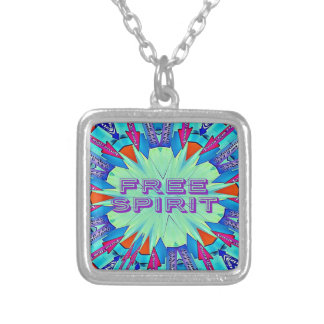 Modern Pop Colors Arrows Pointing Free Spirit Silver Plated Necklace