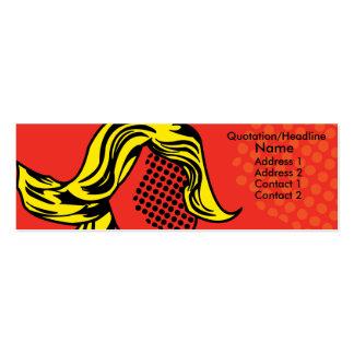 Modern pop profile card business card
