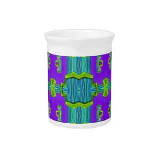 Modern Pop Purple Green Colored Pattern Drink Pitcher