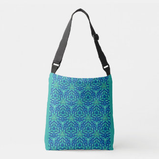 Modern Popular Turquoise Teal Blue Pattern Crossbody Bag