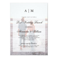 Modern Post Wedding Brunch | Overlay with Photo Invitation