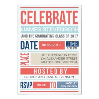 Modern poster graduation card