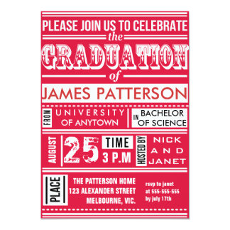 Modern poster graduation party card