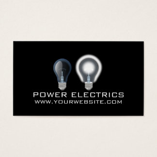Modern Power Electric Electrician Card
