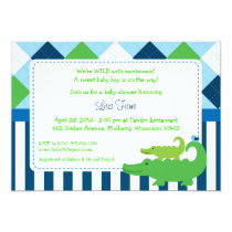 Modern Preppy Alligator Baby Shower Invitations