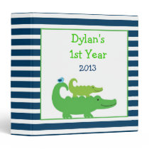 Modern Preppy Alligator Binder Photo Album