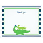 Modern Preppy Alligator Flat Thank You Note Cards