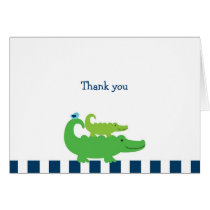 Modern Preppy Alligator Thank You Note Cards