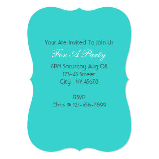modern preppy girly chic aqua teal blue turquoise card