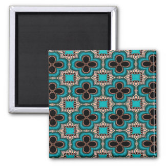 Modern Prertty Abstract Blue And Black Seamless Magnet