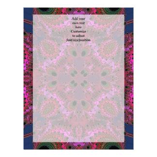 Modern pretty  magenta fractal pattern letterhead
