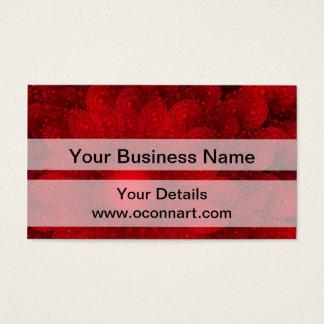 Modern pretty  red fractal pattern business card