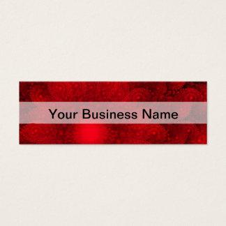 Modern pretty  red fractal pattern mini business card
