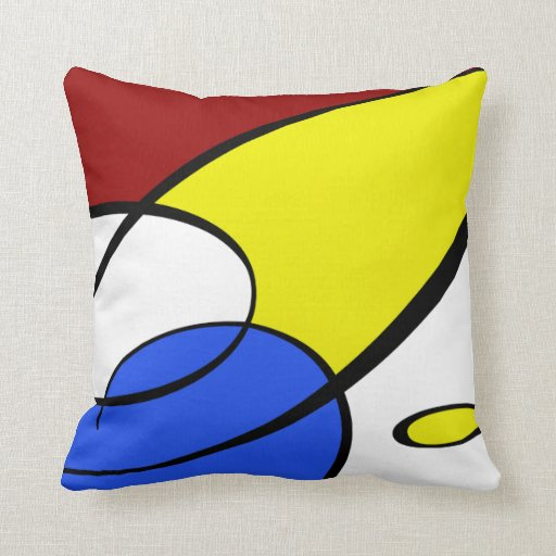 Throw Pillows Primary Colors : Modern Primary Colors Throw Pillow Zazzle