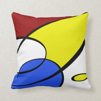 Modern Primary Colors Throw Pillow