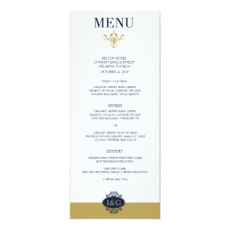 Modern Print The Love Wedding Menu Card