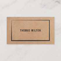 Modern Printed Kraft Paper Consultant Business Card