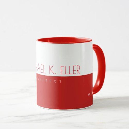 modern prof architect half_red half_white mug