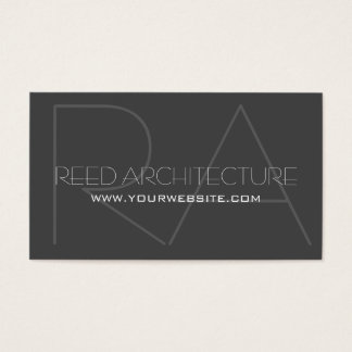 Modern Professional Architecture Business Card
