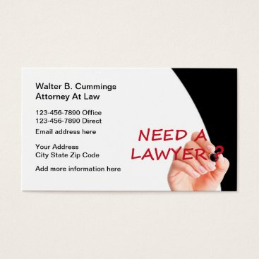 Lawyer Themed Modern Professional Attorney Business Card