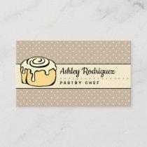 ★ Modern Professional Bakery Chef Elegant Vintage Business Card