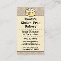 ★ Modern Professional Bakery Vintage Dots Vertical Business Card